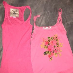Set of two Victoria Secret pink tank tops